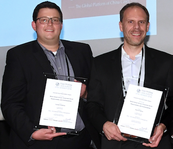 Carsten Guderian and Peter Bican present their EFMD Awards