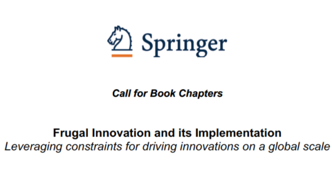 "Towards entry ""Call for Book Chapters: Frugal Innovation and its Implementation"""